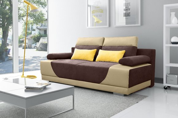 Schlafsofa Stoff Neu Garnitur Bettfunktion 3 Sitz Sofa ...