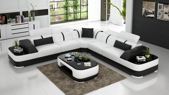 Wohnzimmer Eckcouch, ledersofa polster sitz eck sofa garnitur wohnlandschaft wohnzimmer, Design ideen