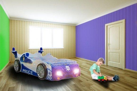 Etagenbett Polizei : Kinderbett mit matratze jugendbett auto polizei polizisten bett